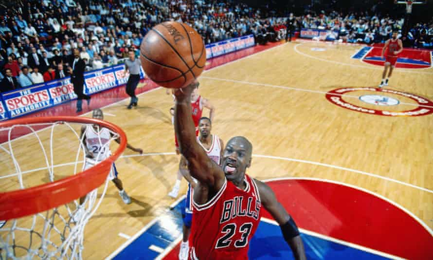Fiercely competitive … Michael Jordan in action for the Chicago Bulls in 1996.