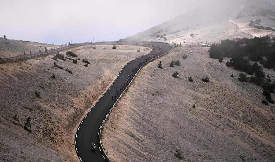 El descenso del Mont Ventoux.