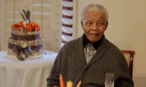 Nelson Mandela at his 94th birthday celebrations in Qunu, South Africa.