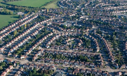 Aerial view of south-east England