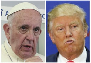 Pope Francis and Donald Trump in a composite image