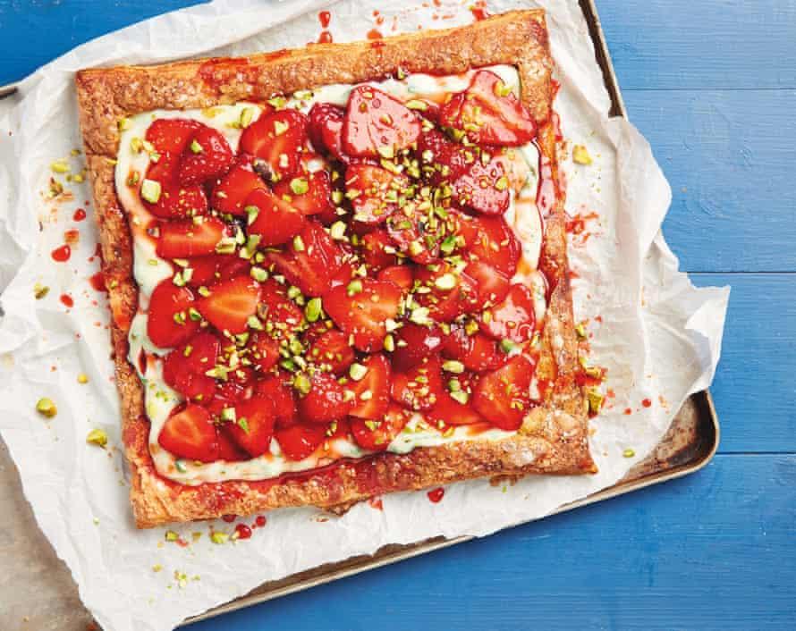 Yotam Ottolenghi's strawberry and basil tart.