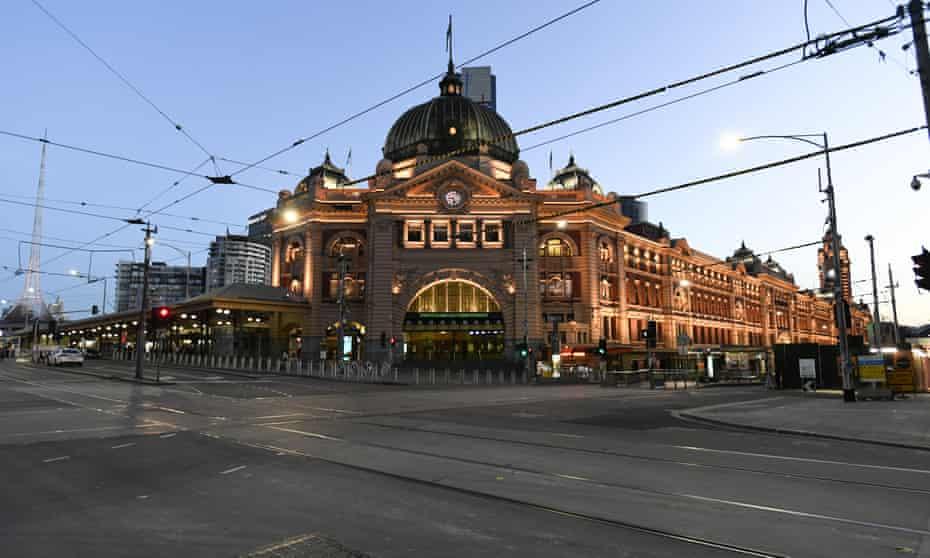 Empty Flinders Street station