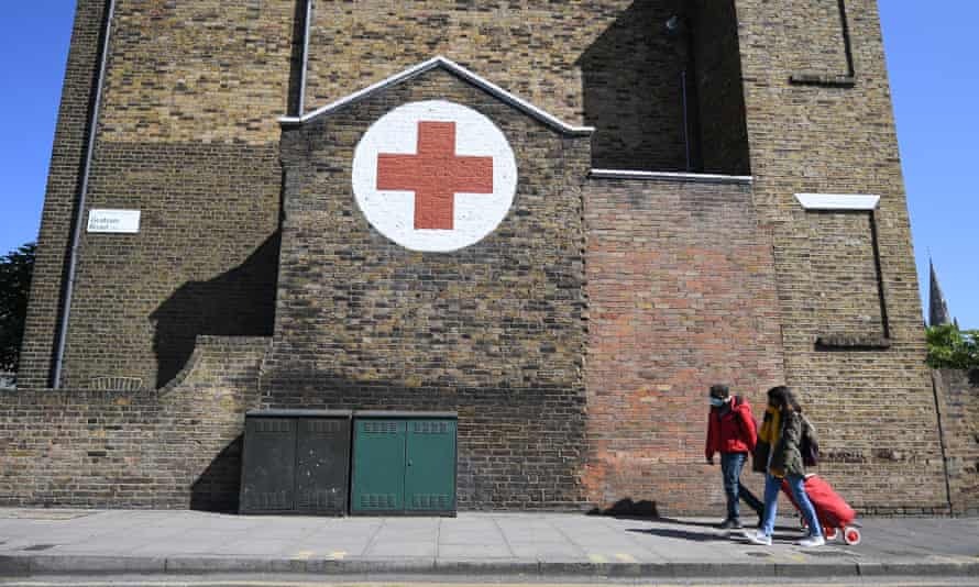 A Red Cross centre in east London