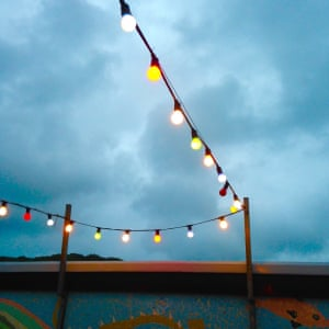 """<strong>Lights in Aberaeron</strong><br>""""A typical mixed bag of Welsh weather last week. On Friday evening the outside courtyard of The Hive restaurant in Aberaeron was empty of customers due to the appalling weather. At least the lights were shining brightly.""""<br>Photograph: <a href=""""https://n0tice-static.s3.amazonaws.com/image/1438014104223cc20e221818d255b2958f898b79b3122-mediumoriginalaspectdouble.jpg"""">Peter Hunt</a><a>/GuardianWitness</a>"""