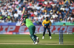 Du Plessis hits one for four.