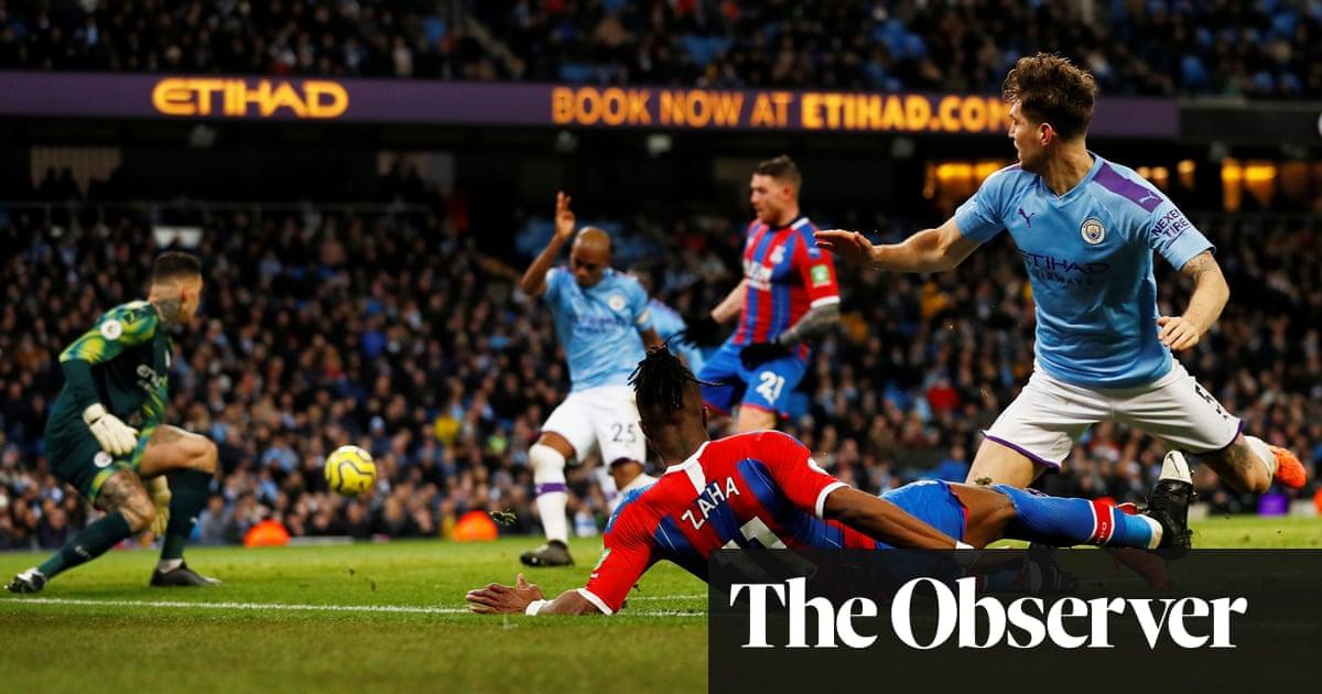 Pep Guardiola baffled at Manchester City letting Zaha make crucial run