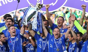 John Terry lifts the Premier League trophy with Gary Cahill but is the presentation itself a ludicrously overblown ceremony?