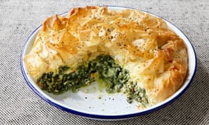 Rosie Sykes' spinach, cream cheese and herb filo pie.