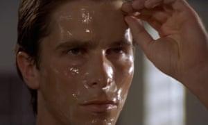 Crazed narcissistic Patrick Bateman sees virtue in his vanity.