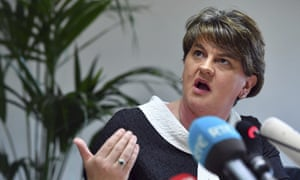Arlene Foster at the European parliament in Brussels