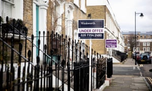 Houses for sale in north London; prices in the capital are falling at their fastest rate in a decade