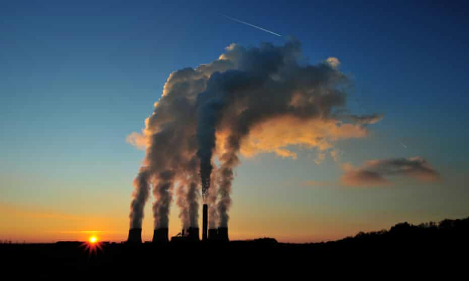 The sun sets over Ratcliffe-on-Soar Power Station in Nottingham