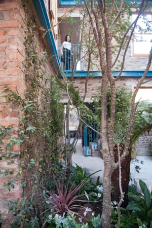 Inside Granby winter garden, which spans two houses in a Victorian terrace.