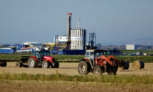 Cuadrilla's exploratory rig drilling for shale gas at Banks in Lancashire, September 2011
