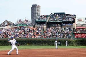 Rooftop seats across the street from Wrigley Field, Chicago.