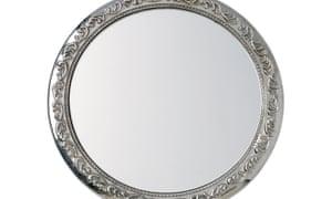 Silver Hand held mirrorB3FE27 Silver Hand held mirror