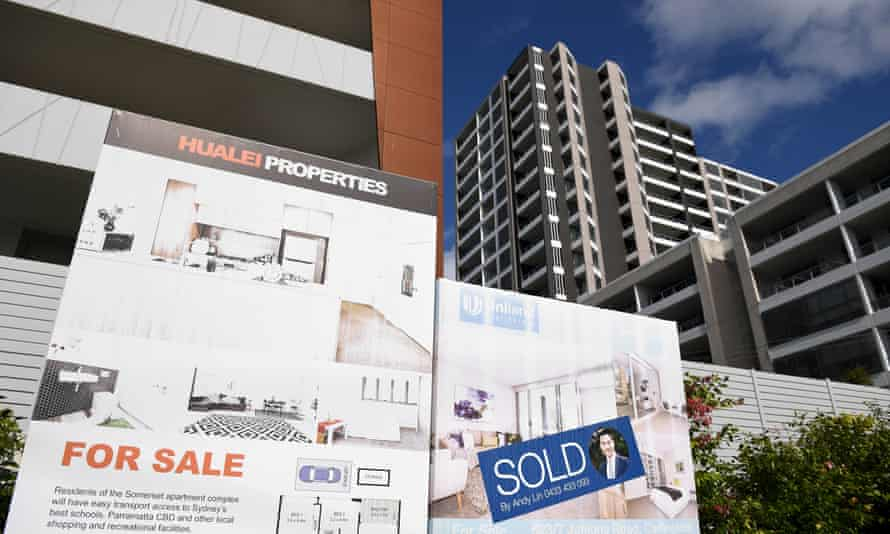 For Sale signs outside a unit block in Sydney, 28 October 2020.