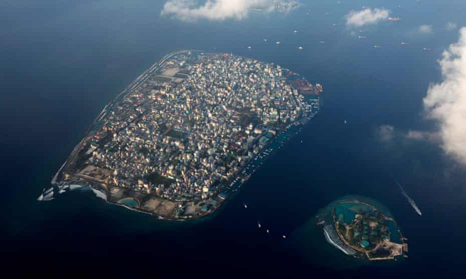 Malé, capital of the Maldives, stands only four feet above sea level.