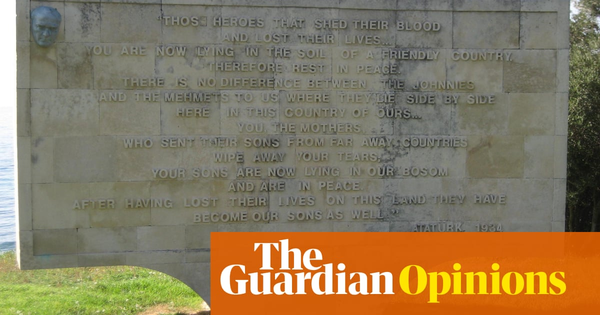 Ataturk's 'Johnnies and Mehmets' words about the Anzacs are shrouded