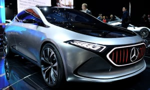 The Mercedes-Benz Concept EQA at the Frankfurt Motor Show.