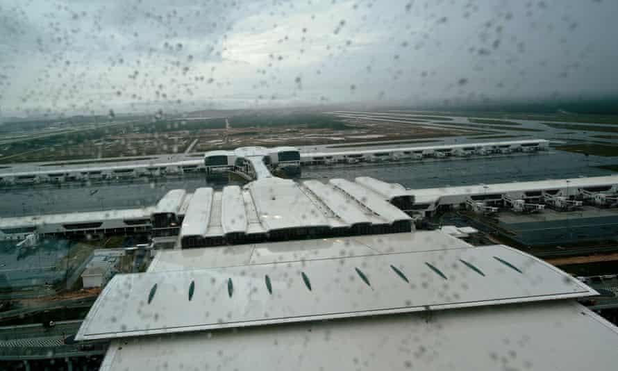 Rain falls on Kuala Lumpur international airport 2