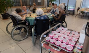 Ice-creams ready to be served at a retirement home in Souffelweyersheim, eastern France.