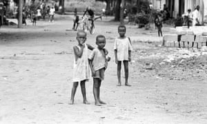 Malnourished children affected by the Biafran conflict