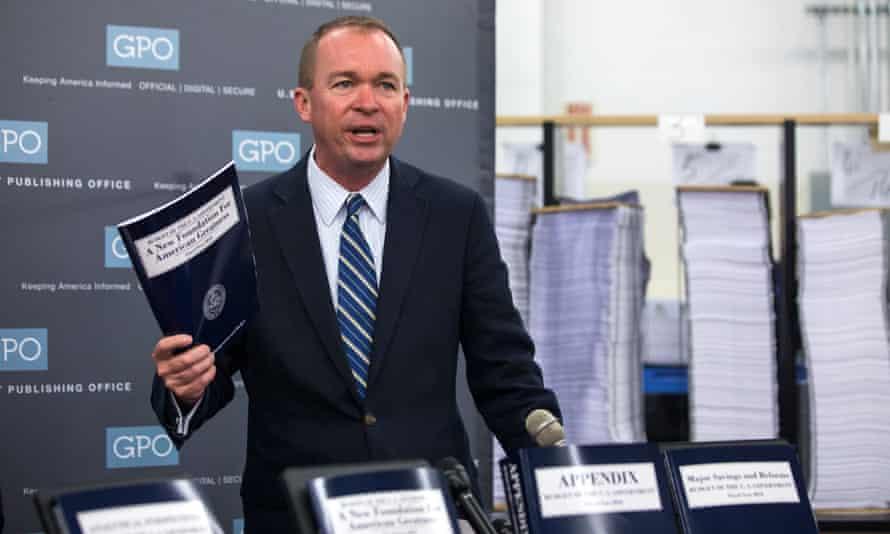 Budget director Mick Mulvaney.
