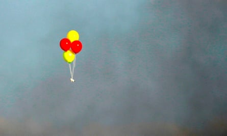 Balloons with incendiaries