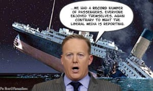 The social media memes have been instant following Sean Spicer's titanic lie.