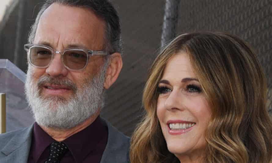 Tom Hanks and Rita wilson pictured last year.