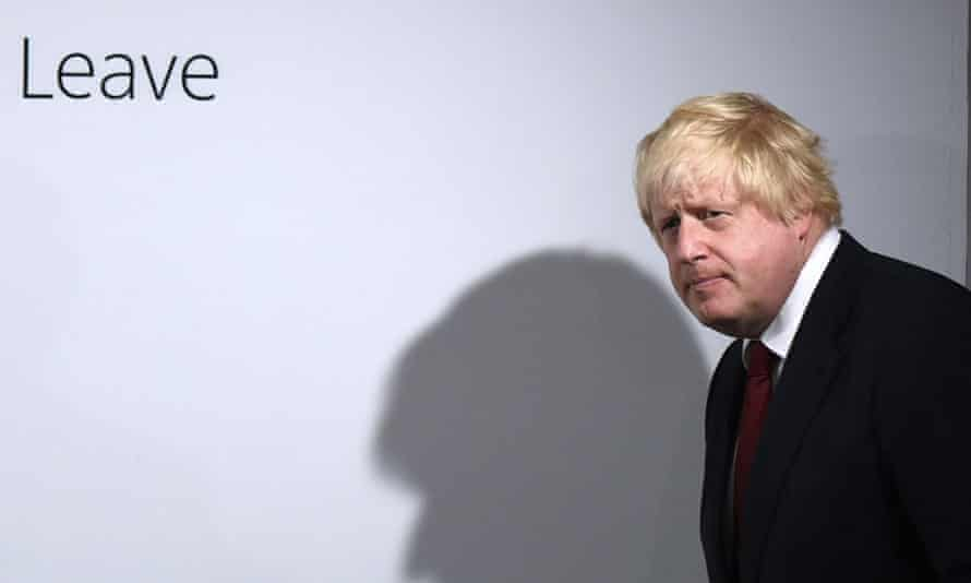 Boris Johnson arrives for a press conference at Vote Leave headquarters in London, on 24 June 2016, the day the Brexit vote was confirmed.