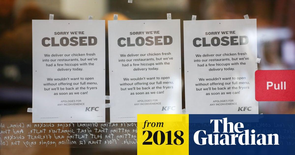 d87d33e5d80 Hundreds of KFC shops closed as storage depot awaits registration ...