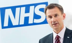 The health secretary, Jeremy Hunt.