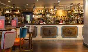 The new bar at the King's Head