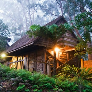 Heritage listed Binna Burra lodge in the Gold Coast Hinterland before it was destroyed by fire
