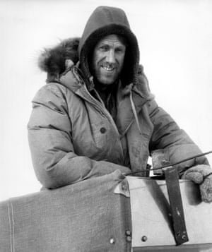 Sir Edmund Hillary at the South Pole. 1958.