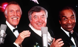 Bruce Forsyth, Jimmy Tarbuck and Kenny Lynch at the launch of their Christmas single in 1996. The three entertainers were good friends.