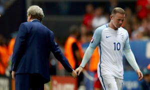A parting of the ways: Roy Hodgson has already said his goodbyes to England, and his captain Wayne Rooney may follow him.