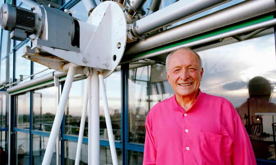 Richard Rogers outside his studio in Hammersmith, London.