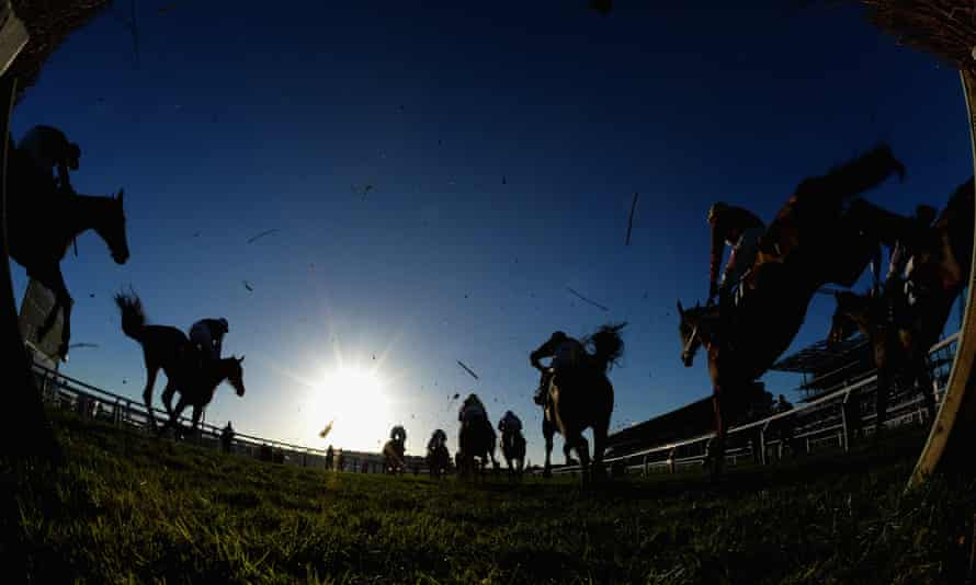 Action from Cheltenham last month. Bear Ghylls will line up at the track's Festival Trials Day on Saturday.