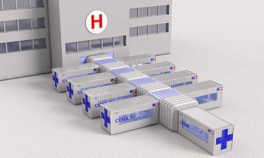 The $100,000 units can be linked and help a hospital expand its ICU capability.