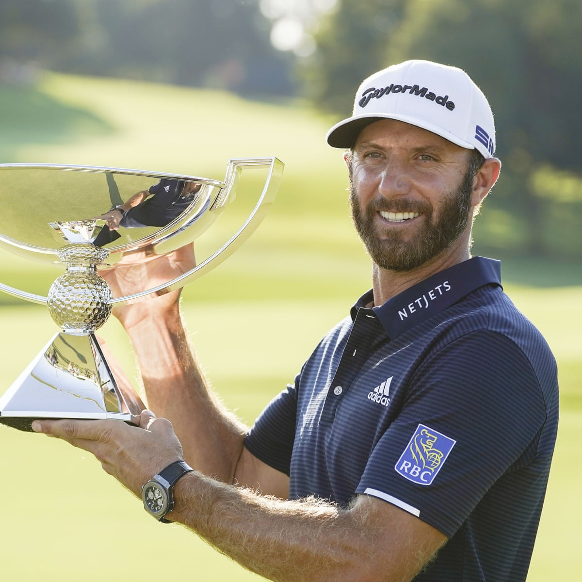 Dustin Johnson holds his nerve to win $15m Tour Championship title ...