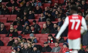 Empty seats at the Emirates.