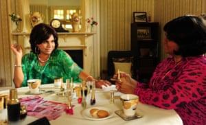 Deborah Mailman and Elizabeth Wymarra in Black Comedy.