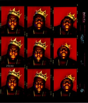 Biggie Smalls' King of New York contact sheet from 1997.
