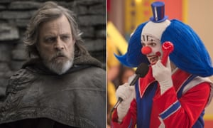 May the Force with them … Mark Hamill in The Last Jedi and Bingo: The King of the Mornings.