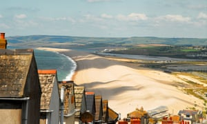 Chesil Beach on Dorset's Jurassic Coast.