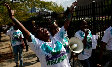 McDonalds employees and other fast food chain workers protested in 10 cities across the US